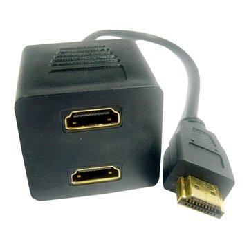 Pro-Best 柏旭佳HDMI公-母*2 分配線