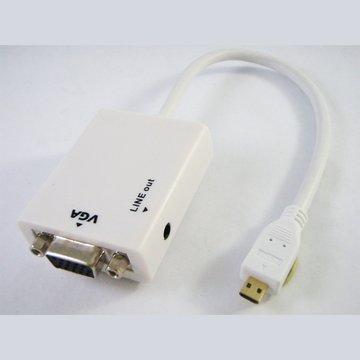 vision 創視Micro HDMI/VGA轉接線(含音源輸出)