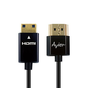 avier HDMI/Mini HDMI 1M 超薄極細線