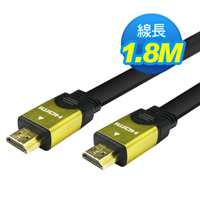 Link All HDMI A to A鍍金頭扁線/1.8M