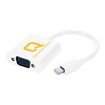 QOOKER 酷可Mini DisplayPort 公/VGA 母轉接線21cm