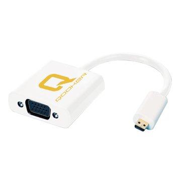 酷可 Micro HDMI公/VGA母 25cm轉接線