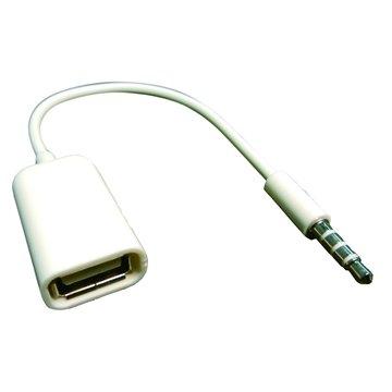 S.C.E 世淇3.5公/USB A母 車用音響AUX專用線