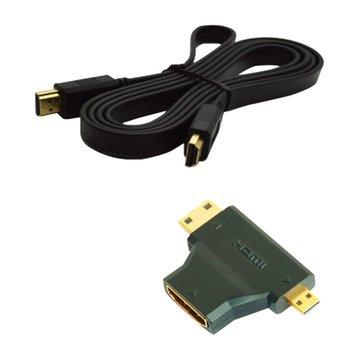 S.C.E 世淇HDMI三用組合包 1.4版(1.5M扁線+轉接頭)