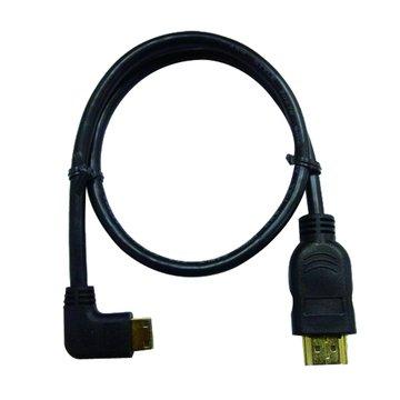 S.C.E 世淇HDMI公/MINI HDMI 90°公45cm