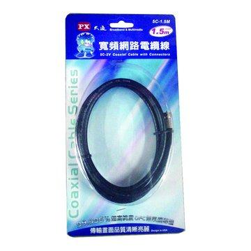 PX 大通 UL美國同軸電纜5C-1.5米(吊卡)