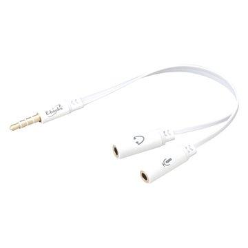 E-books 一公二母耳機麥克風音源轉接線 X18