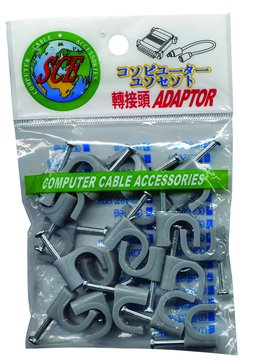 S.C.E 世淇IL-4電話線固定夾(20入)(10*13.)