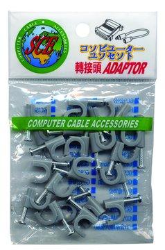 S.C.E 世淇IL-3電話線固定夾(20入)(8.5*8)