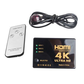 I-WIZ 彰唯 HDMI三進一出切換器 (4Kx2K)(附遙控器)