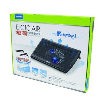 逸盛 Esense E-C10 AIR角度可調大風扇筆電散熱墊