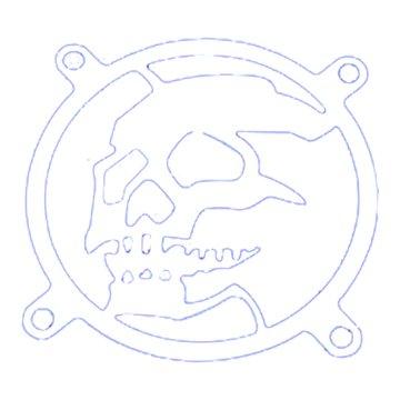 SUNBEAM 8cm 風扇外罩(鐵製)微笑骷顱頭