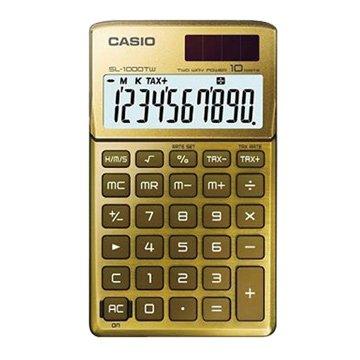 CASIO 卡西歐SL-1000TW-GD 10位元攜帶型計算機(尊貴金)