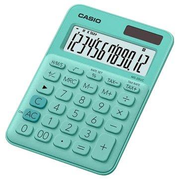 CASIO MS-20UC-GN 12位元馬卡龍繽紛桌上型計算機/薄荷綠