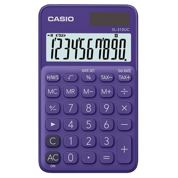 CASIO 卡西歐 SL-310UC-PL 10位元馬卡龍繽紛攜帶型計算機/葡萄紫