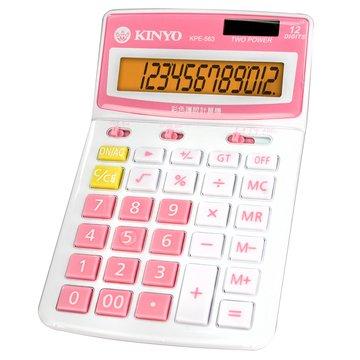 KINYO 金葉KPE-563R 12位元桌上型彩色護眼計算機