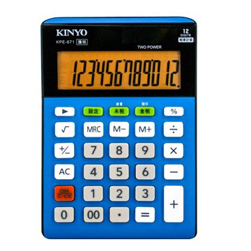 KINYO 金葉KPE-671 12位元稅率護眼計算機