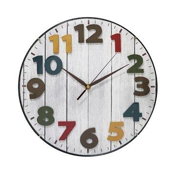 KINYO CL-201 12吋立體彩色北歐掛鐘(白)