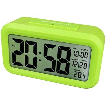 KINYO 金葉TD-331G 簡約光控聰明鐘(綠)(福利品出清)