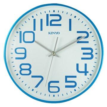 KINYO 金葉CL-146BU 馬卡龍靜音掛鐘(藍)