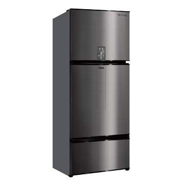 TECO R6181VXHS 610L 三門變頻鈦空灰冰箱