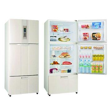 SAMPO 聲寶 SR-L53DV(W3) 525L三門變頻珍珠白電冰箱(福利品出清)