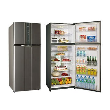 SAMPO 聲寶SR-N53D(K2) 530L雙門變頻石墨銀冰箱