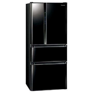 Panasonic  國際牌NR-D618NHV-B 610L四門變頻鏡面黑電冰箱