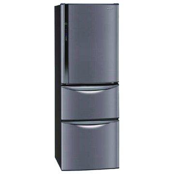 Panasonic  國際牌NR-C387HV-K 385L三門變頻琉璃黑電冰箱(福利品出清)