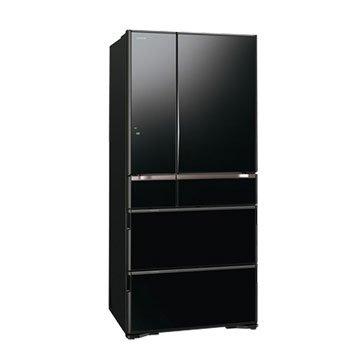 HITACHI 日立 R-G670FJ(XK) 670L 六門變頻琉璃黑冰箱(福利品出清)