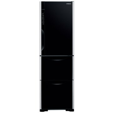 HITACHI 日立 R-G36WS(GBK)325L三門變頻琉璃黑冰箱(福利品出清)