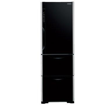 HITACHI 日立 R-G41WS(GBK) 385L三門變頻琉璃黑冰箱(福利品出清)