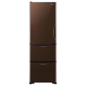 HITACHI 日立R-G41BL(GBW)394L三門變頻左開琉璃棕冰箱