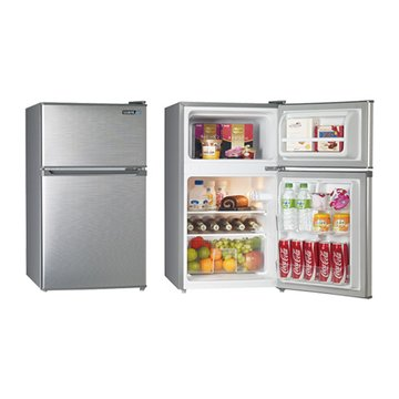 SAMPO 聲寶SR-B10G 100L雙門銀色小冰箱