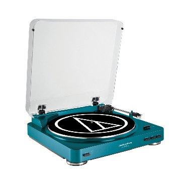audio-technica 鐵三角 鐵三角全自動立體聲黑膠唱盤LP60藍