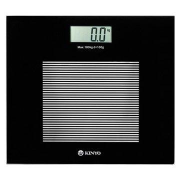 KINYO 金葉 DS-6583 黑晶電子體重計(福利品出清)
