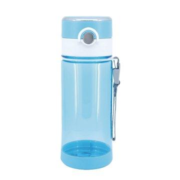 人因 新負離子能量冷熱水壺560ml-水晶藍