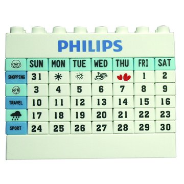 PHILIPS 飛利浦 飛利浦檯燈贈品-日曆積木