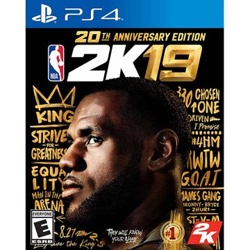 SONY 新力牌PS4 NBA 2K19 20周年紀念中文版
