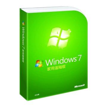Microsoft 微軟 Windows 7 家用進階-彩盒中文完整版