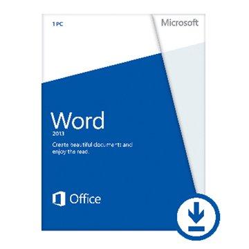 Microsoft 微軟 Word 2013 英文版非商業-數位下載版
