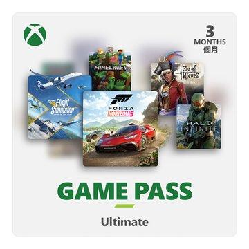 Microsoft XBOX Game Pass 3個月訂閱卡-數位下載版