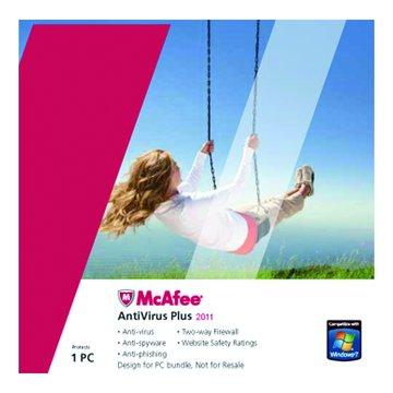 McAfee 防毒1人1年隨機版(簡易包)
