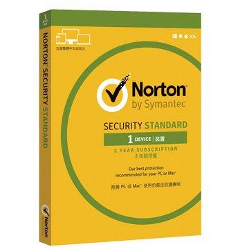 symantec 賽門鐵克諾頓網路安全-入門版(Standard)-1台裝置2年