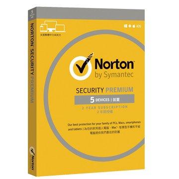 symantec 賽門鐵克諾頓網路安全-專業版(Premium)-5台裝置2年