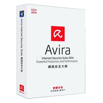 AVIRA 小紅傘 小紅傘 網路安全大師 2014中文3人1年